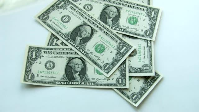 Money falling down video