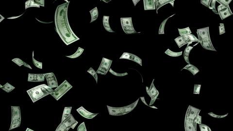 vídeos y material grabado en eventos de stock de bucle caída de dinero - caer