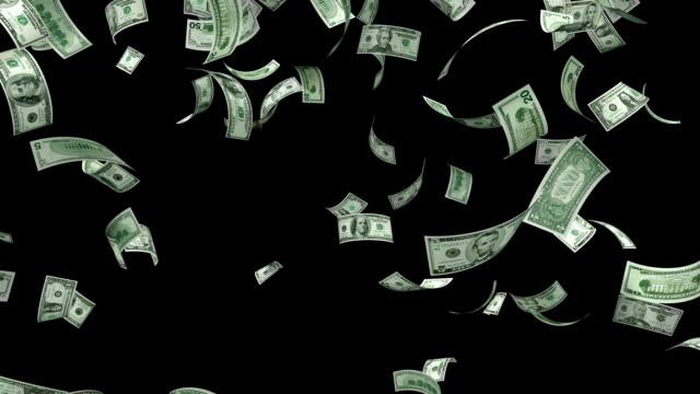 деньги падающие - падать стоковые видео и кадры b-roll