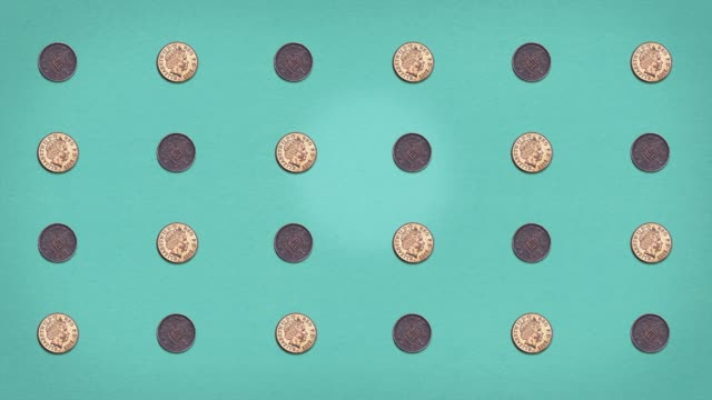 Money Grid - Pennies - Stop Frame Animated