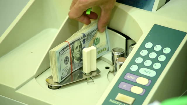 money in counting machine video