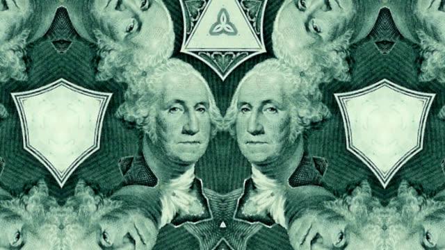 деньги калейдоскоп — фон hd - узор калейдоскоп стоковые видео и кадры b-roll