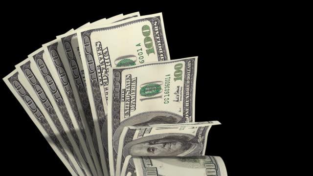 Money layout one hundred dollar bills video
