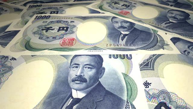 stockvideo's en b-roll-footage met geld papier valuta japanse yen - yenteken