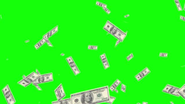 us-geldteilchen-animation - dollarsymbol stock-videos und b-roll-filmmaterial