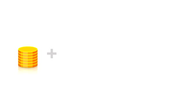 돈 플러스 %는 이익 - 이율 스톡 비디오 및 b-롤 화면