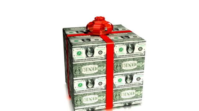 denaro presente. - bonus video stock e b–roll