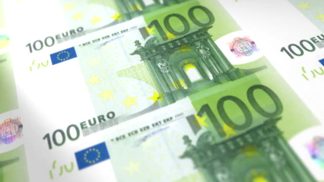 Money Printing 100 EURO Bills Loop video