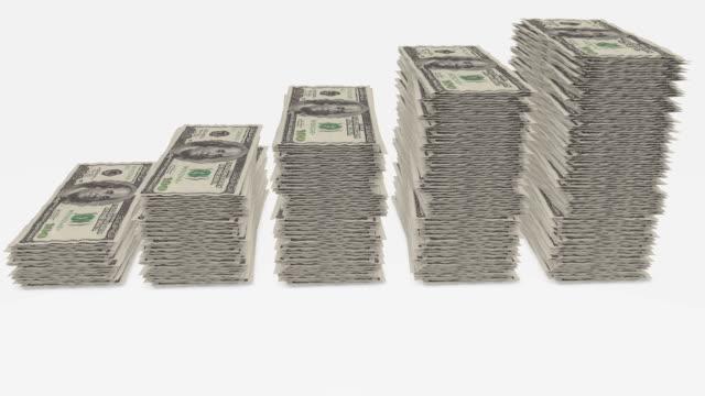 vidéos et rushes de l'argent - entassé