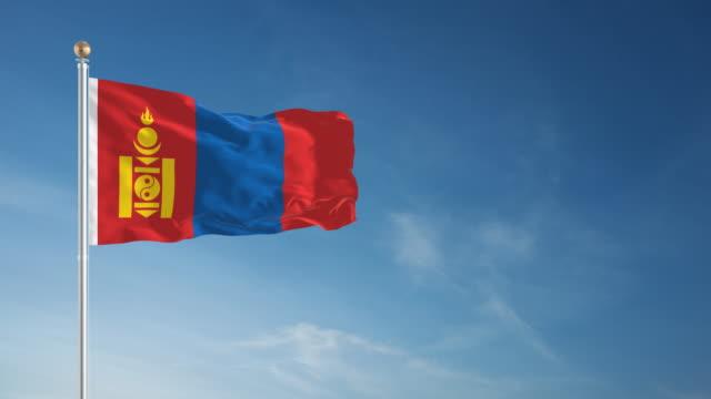 4K Mongolia Flag - Loopable video