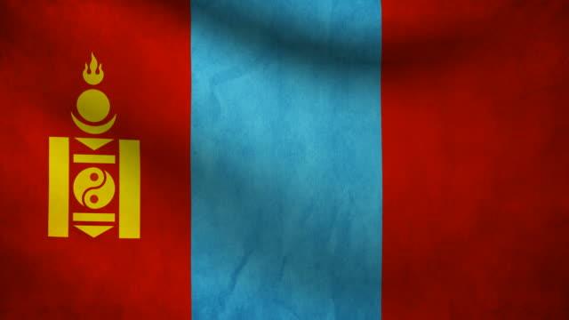 Mongolia flag. video