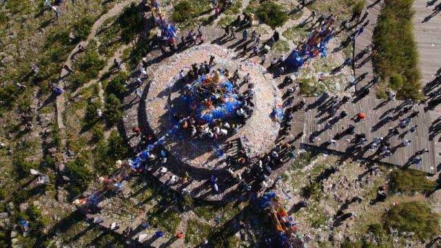 Mongolian mountain-worshipping ceremony video