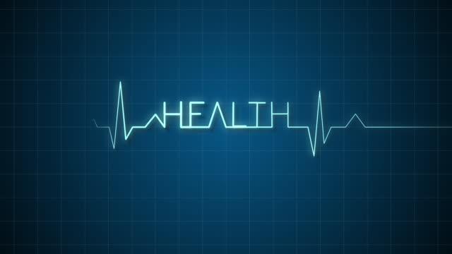 EKG Monitor Graph Form the Word Health