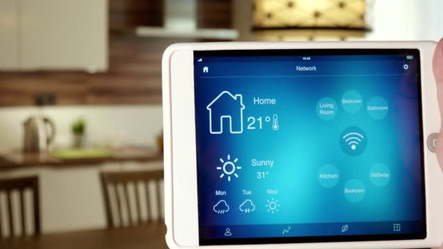 Monitoring wireless network in the house using app on the digital tablet video
