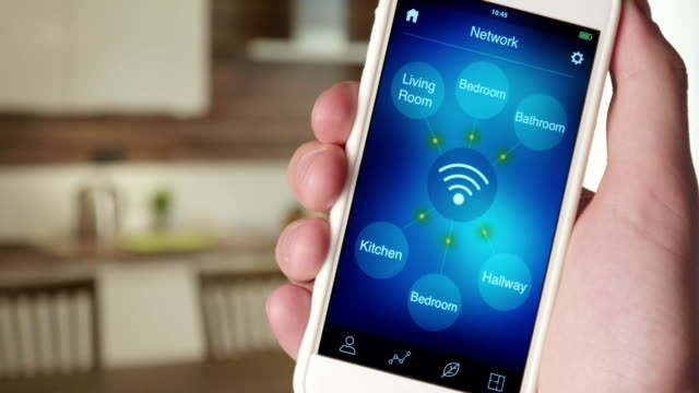 Monitoring wireless network in the house using smartphone app video