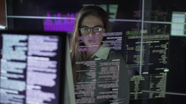 Monitors and see through text