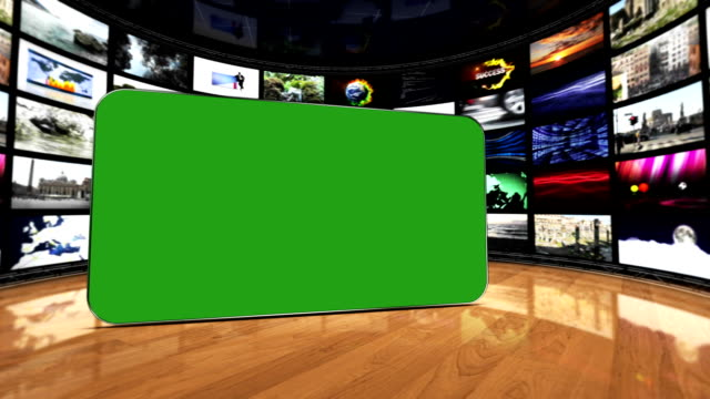 Monitors Room, and Green Screen Monitor, Loop video