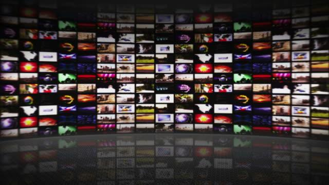 Monitors Walls, Technology Concept, Loop, 4k video