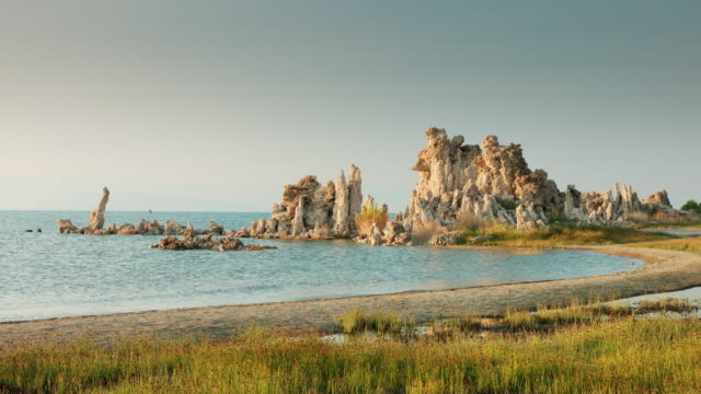 Mono Lake Reserve at Golden Hour video