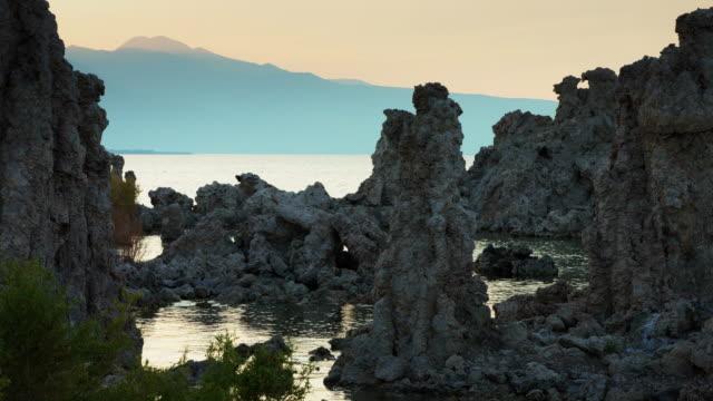 Mono Lake Tufa Reserve at Dusk video