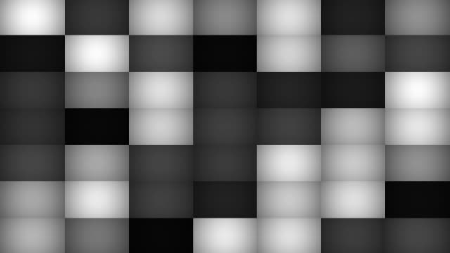 Monochromatic Abstract Mosaic Tile Background Loop video