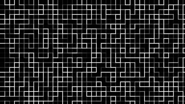 Monochromatic digital pattern video
