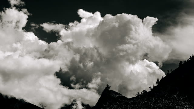 HD: Monochrome Timelapse of monsoon clouds over the himalayas. video