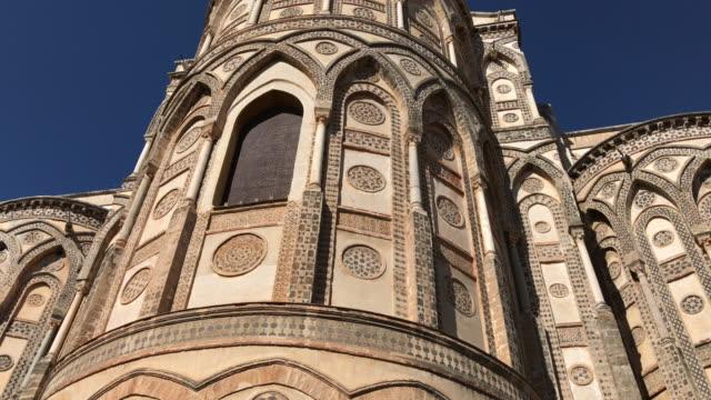 モンレアーレ大聖堂、シチリア島、absydes - モンレアーレ点の映像素材/bロール