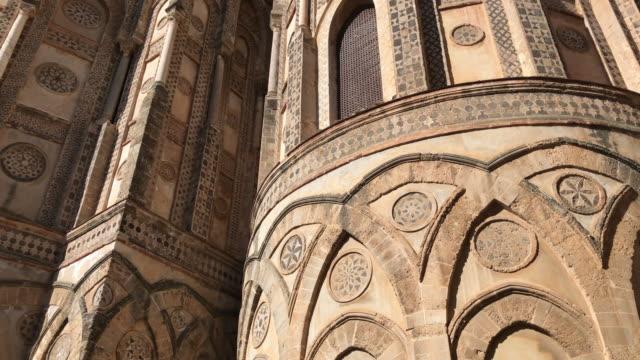 モンレアーレ大聖堂、シチリア、アプス - モンレアーレ点の映像素材/bロール