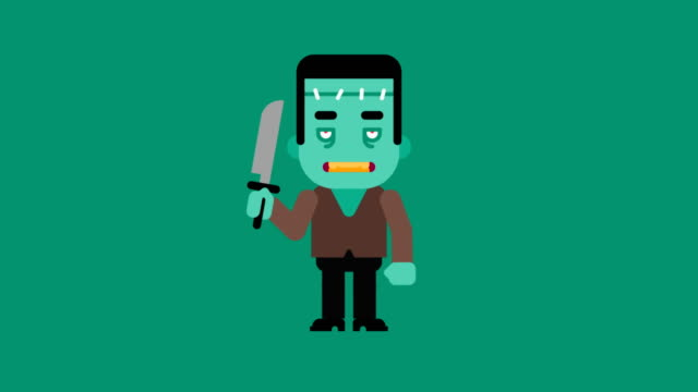 Monster cartoon character. Congratulations on Halloween Monster cartoon character. Congratulations on Halloween. Loop animation. Motion graphics. stamping feet stock videos & royalty-free footage