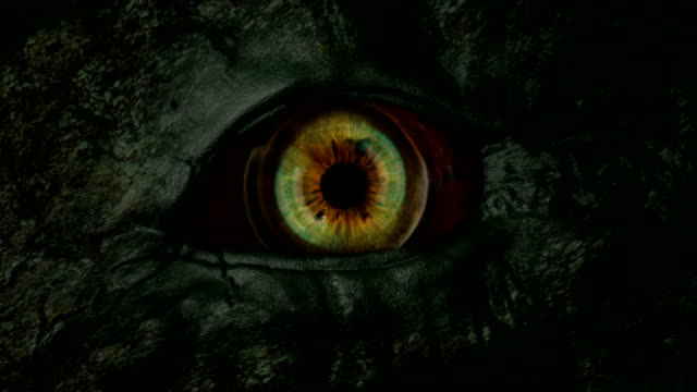 monster eye openning scary concept