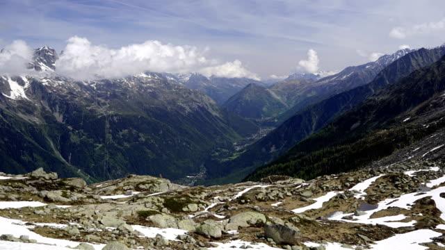 Mont Blanc sunny daytime lapse video