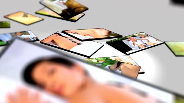 Montage 3D  female having spa treatment video