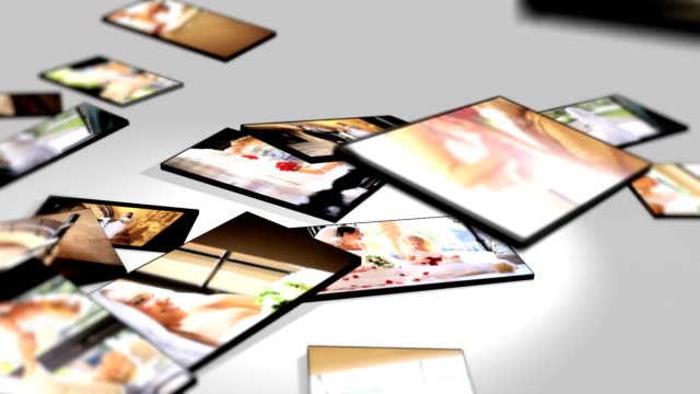 Montage 3D Images Brides and Family Wedding Day video