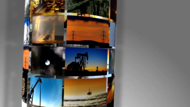 immagini 3d montaggio di combustibili fossili energia prodotta - opec video stock e b–roll