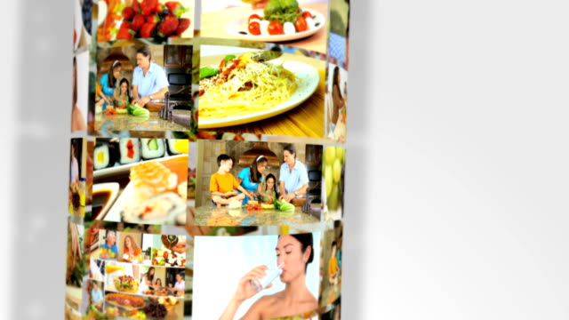 Montage 3D Images People Food Healthy Lifestyle video