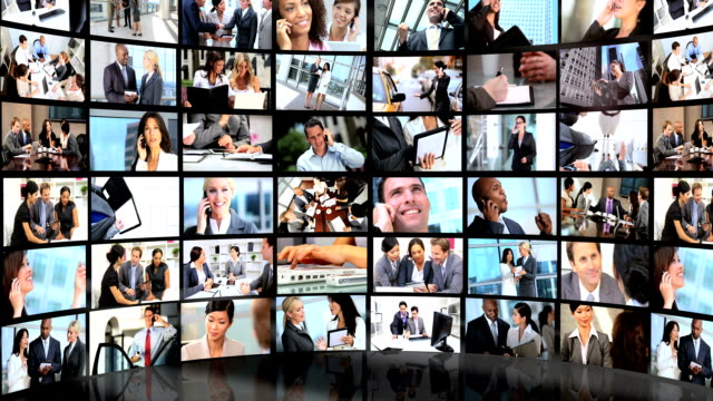 Montage 3D of business people achieving success in their careers video