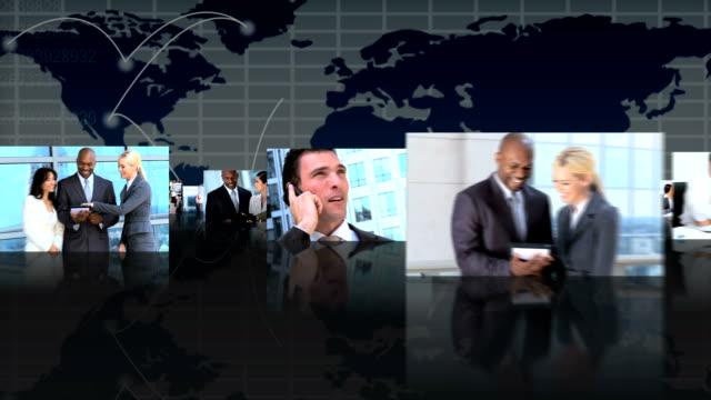 fotomontaggio vista 3d con successo gruppi di persone - balance graphics video stock e b–roll