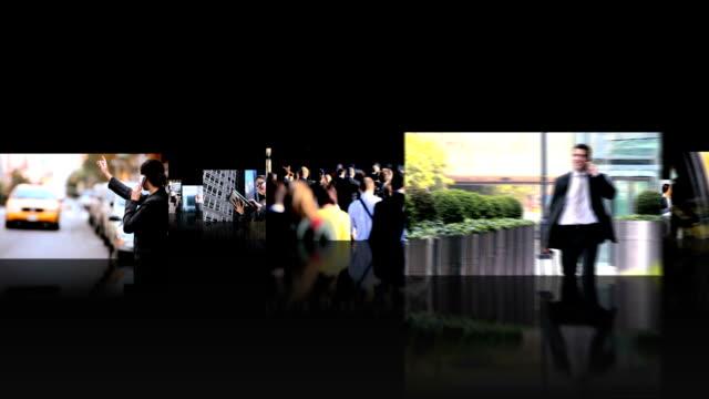 fotomontaggio vista 3d di successo aziendale attività di trasporto persone - fotografia immagine video stock e b–roll