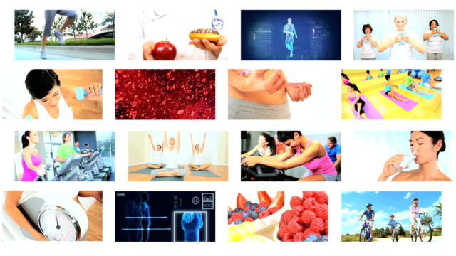Montage CG Images Fitness and Exercise video