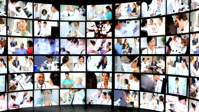 Montage Images Medical Diagnosis and Treatment video