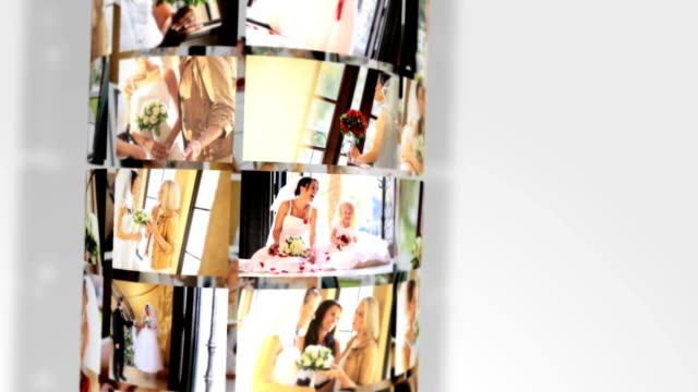 Montage Images Multi Ethnic Brides Preparing Wedding Day video