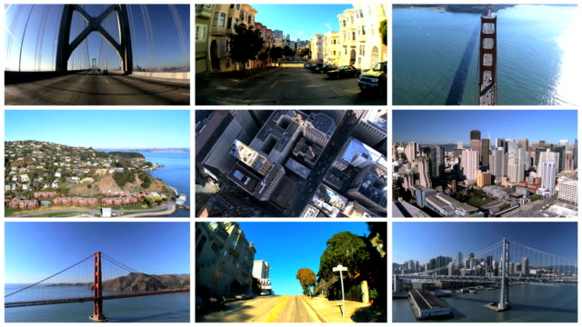 Montage Images of San Francisco, USA video
