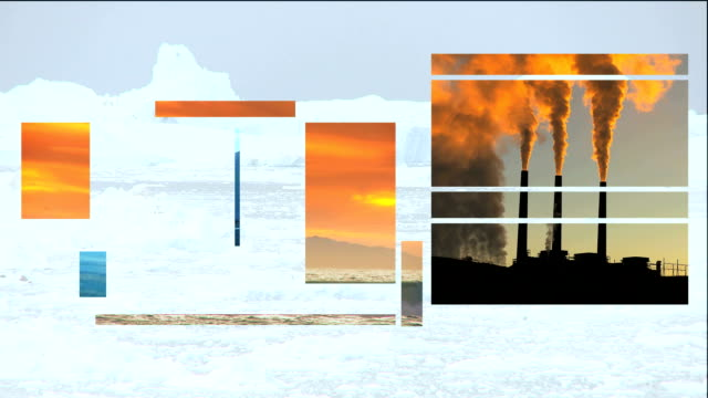 Montage of Clean Energy and Fossil Fuel Environmental Damage