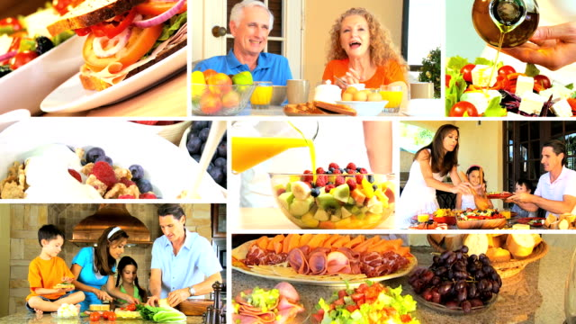 Montage of Healthy Lifestyle Eating video