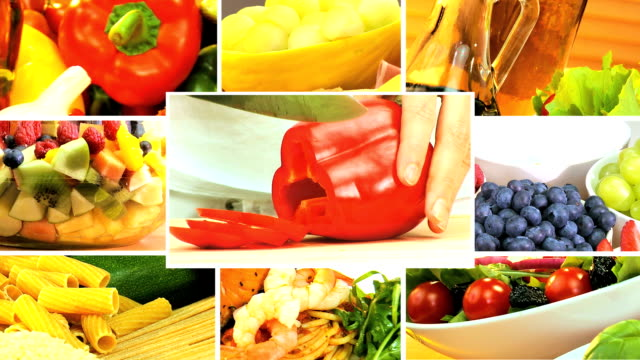 Montage of Healthy Lifestyle Meal Choices video
