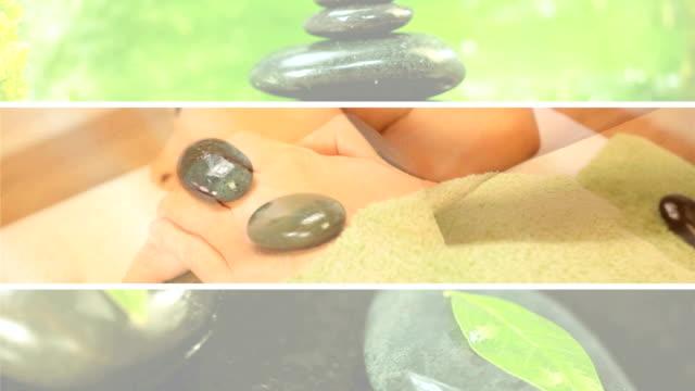 montaż luksusowy masaż leczenia - terapia lastone filmów i materiałów b-roll