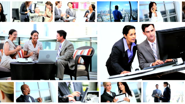 Montage of Multi Ethnic Business People video