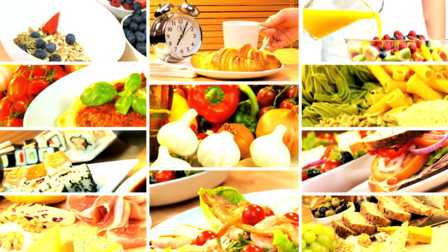 Montage of Three Healthy Daily Meal Choices