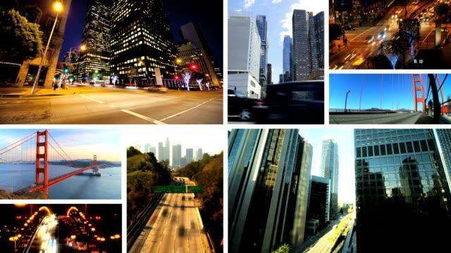 montage collezione busy time lapse traffico cittadino - composizione video stock e b–roll